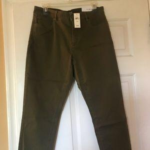 NWT Loft army green curvy crop jeans